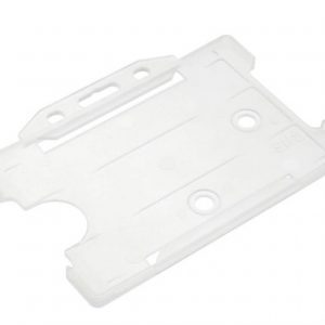 Card holder Clear open faced rigid card holders - Landscape-Packs of 100