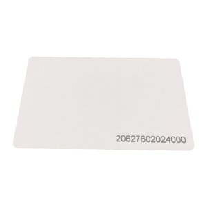 Card – Proximity printed with number