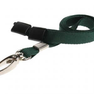 Lanyards Dark Green - 10 mm Lanyards with breakaway and clip - Pack of 100